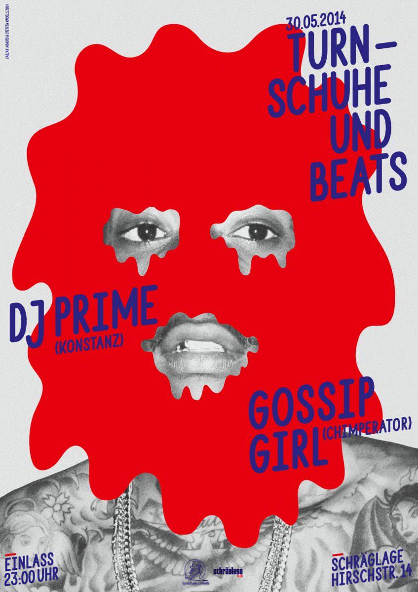 Plakat für die Veranstaltungsreihe Turnschuhe und Beats, veranstaltet von 0711 Entertainment.