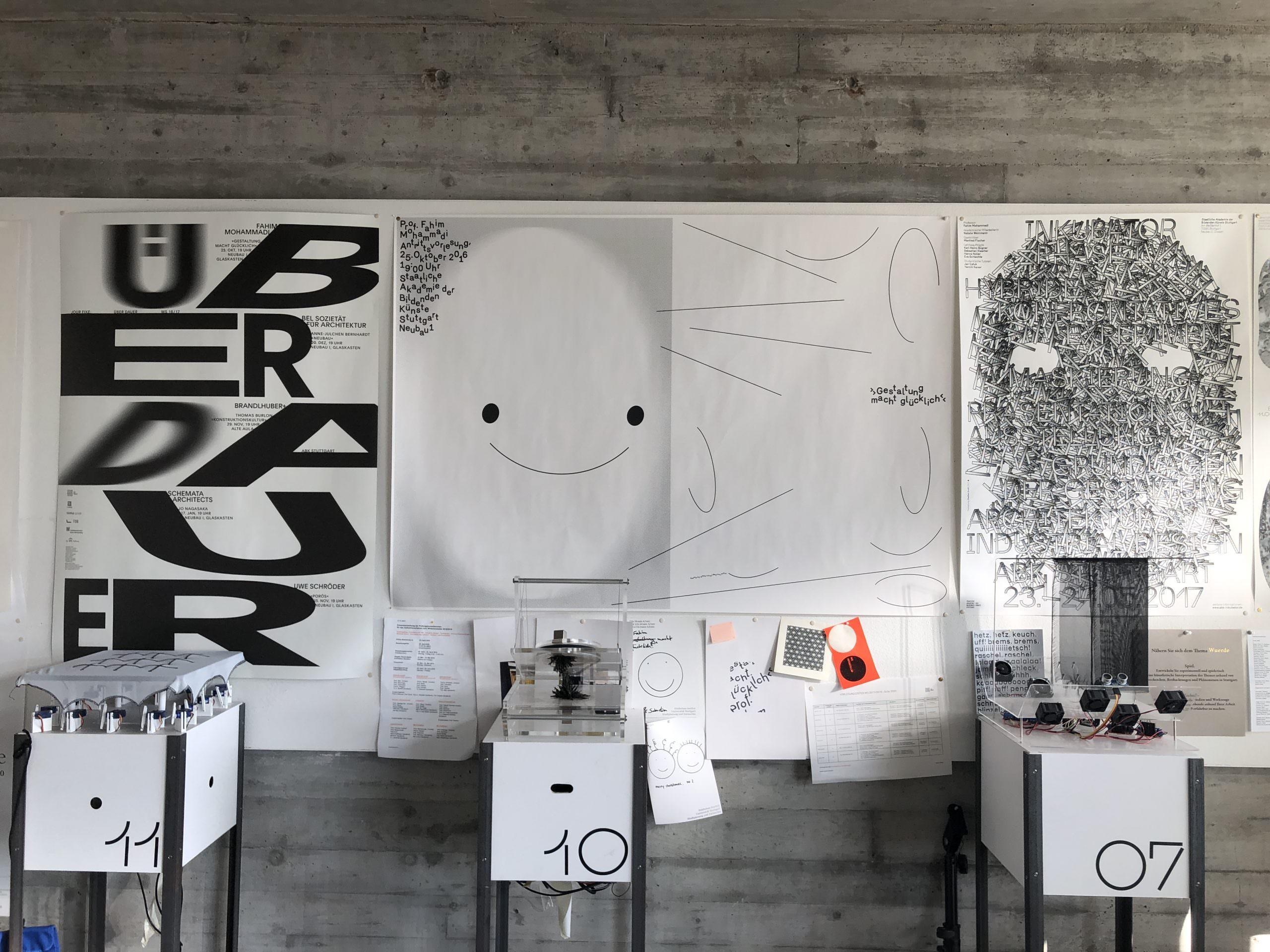 Gestaltung für »Gestaltung macht Glücklich«, Antrittsvorlesung für Professor Fahim Mohammadi, Lehrstuhl für die Grundlagen der Gestaltung im Fachbereich Architektur an der ABK Stuttgart.
