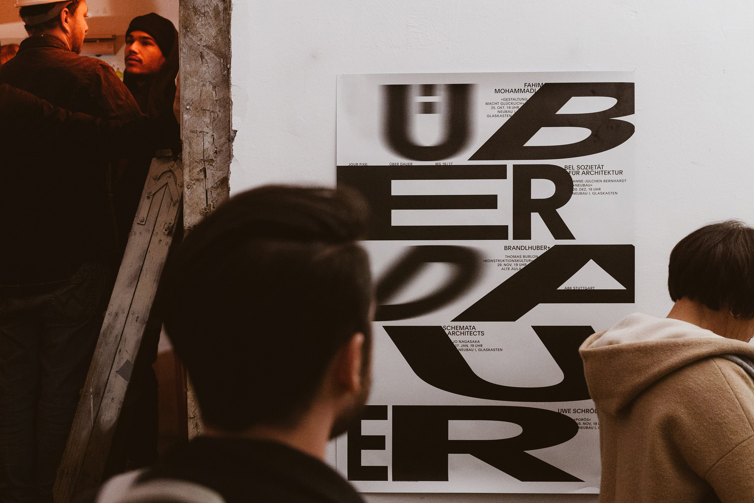 Abbildung des Plakats »Jour Fixe«, ausgestellt während des Rundumschlags 2017 in der Lotte, Stuttgart