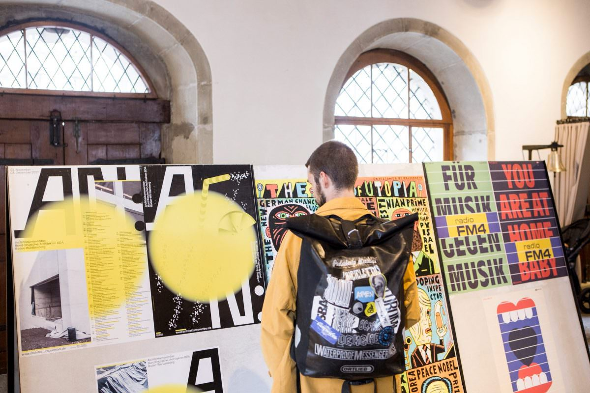 Der Architekturnovember bei den 100 Besten Plakaten im Rahmen des Weltformat-Festivals Luzern.