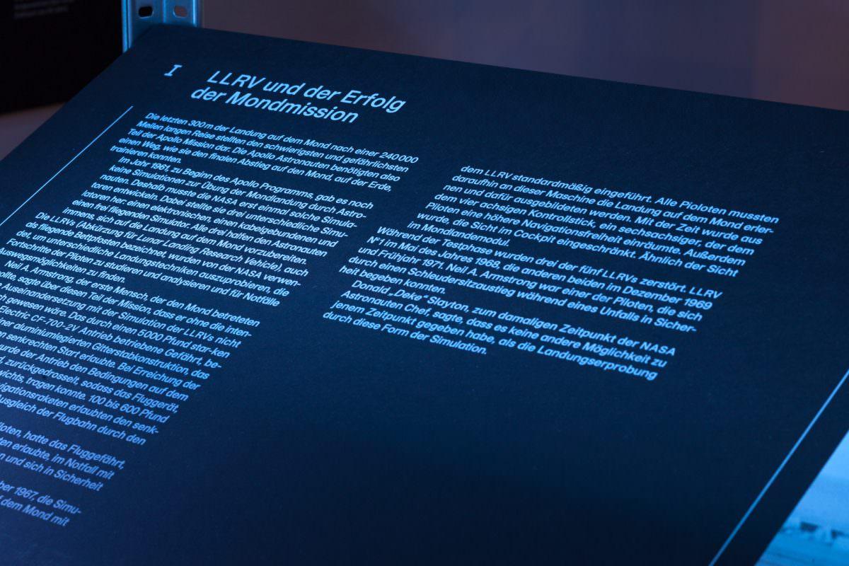 Maßnahmen der Innenarchitektur halfen bei der Szenografie der Ausstellung.