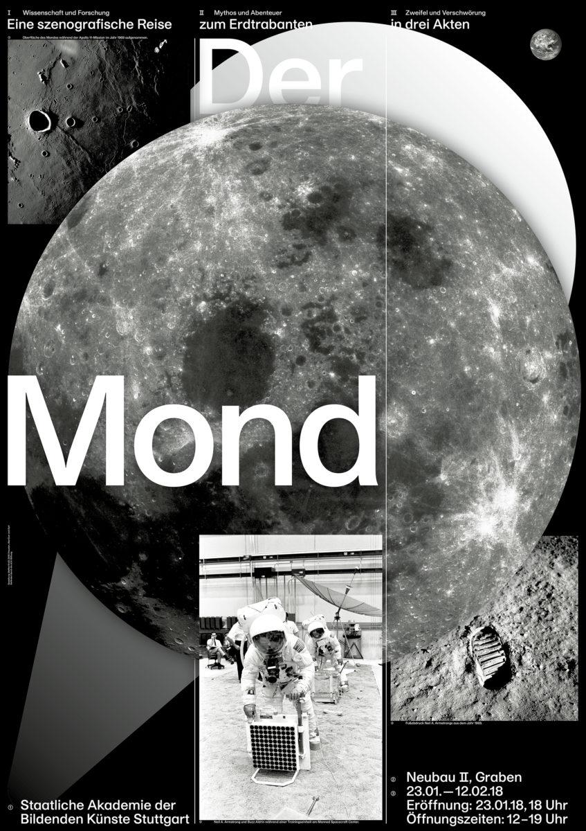 Ausstellungsplakat »Der Mond«