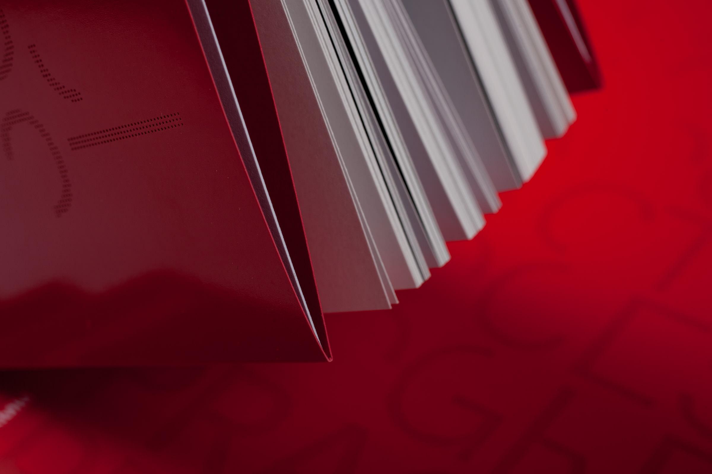 Schutzumschlag und Schnitt der Künstlerpublikation »Practice Process Progress, Meisterschüler im Weißenhofprogramm, Band I«
