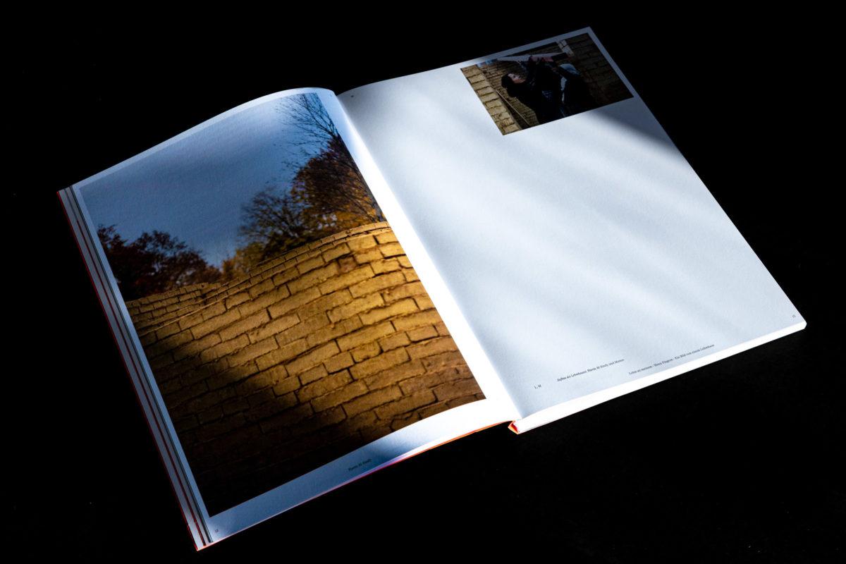 Dokumentation der Arbeit von Havin Al Sindy innerhalb des Kataloges zur Postgradualen Ausstellung 2019