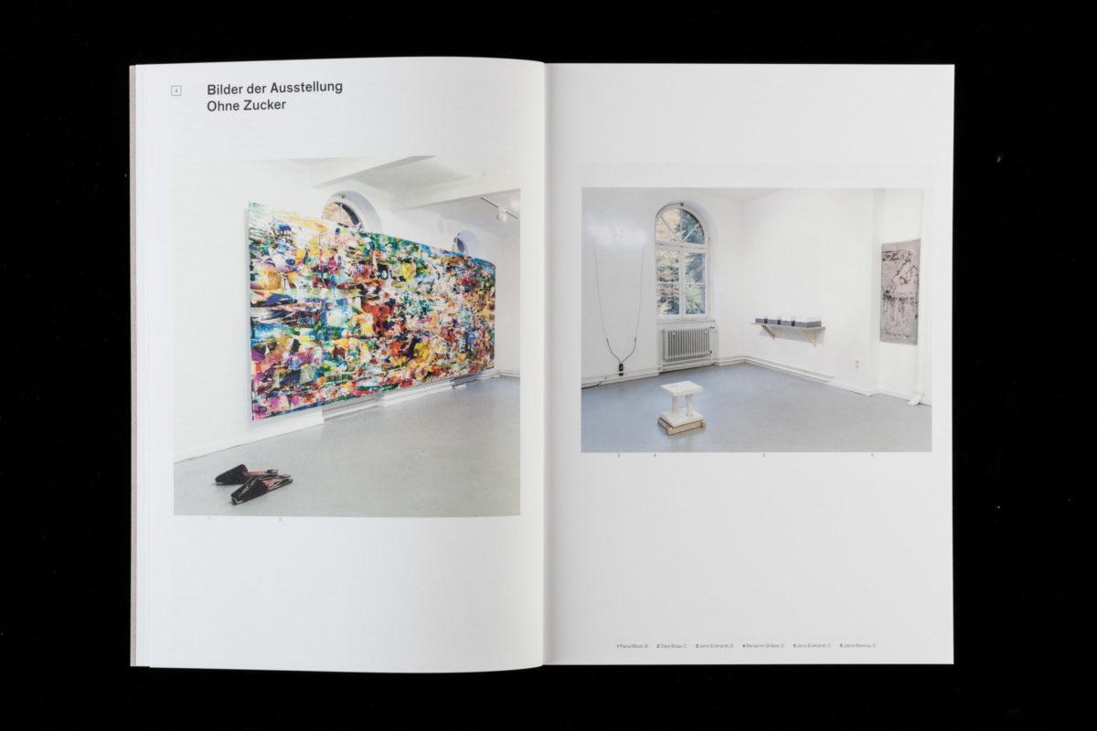 Buchgestaltung mit Ausstellungsansichten der Künstlerin Nadine Bracht aus dem Kunstverein Ettlingen