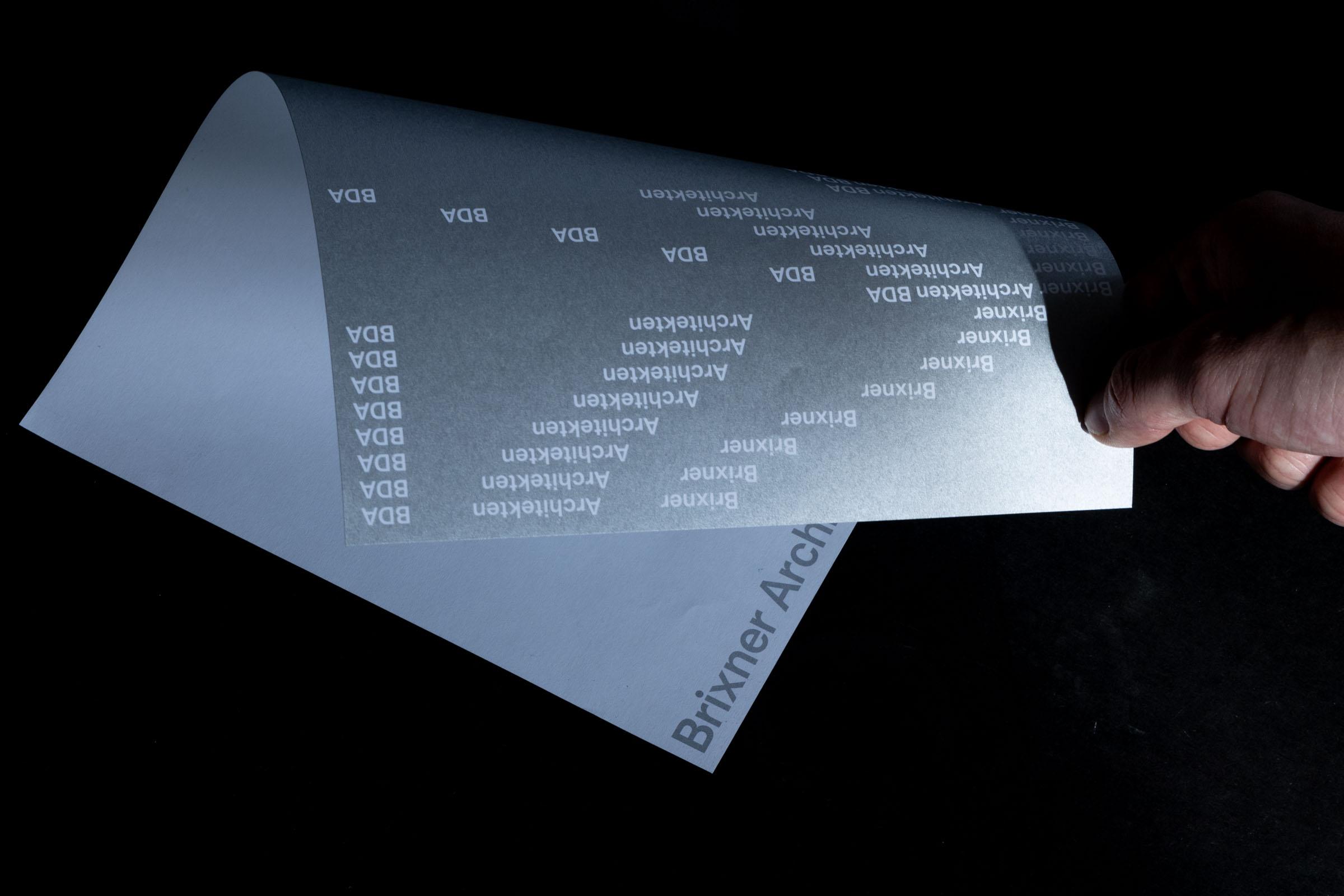 Konzeption des typografischen Unternehmensauftrittes für Brixner Architekten BDA, Stuttgart