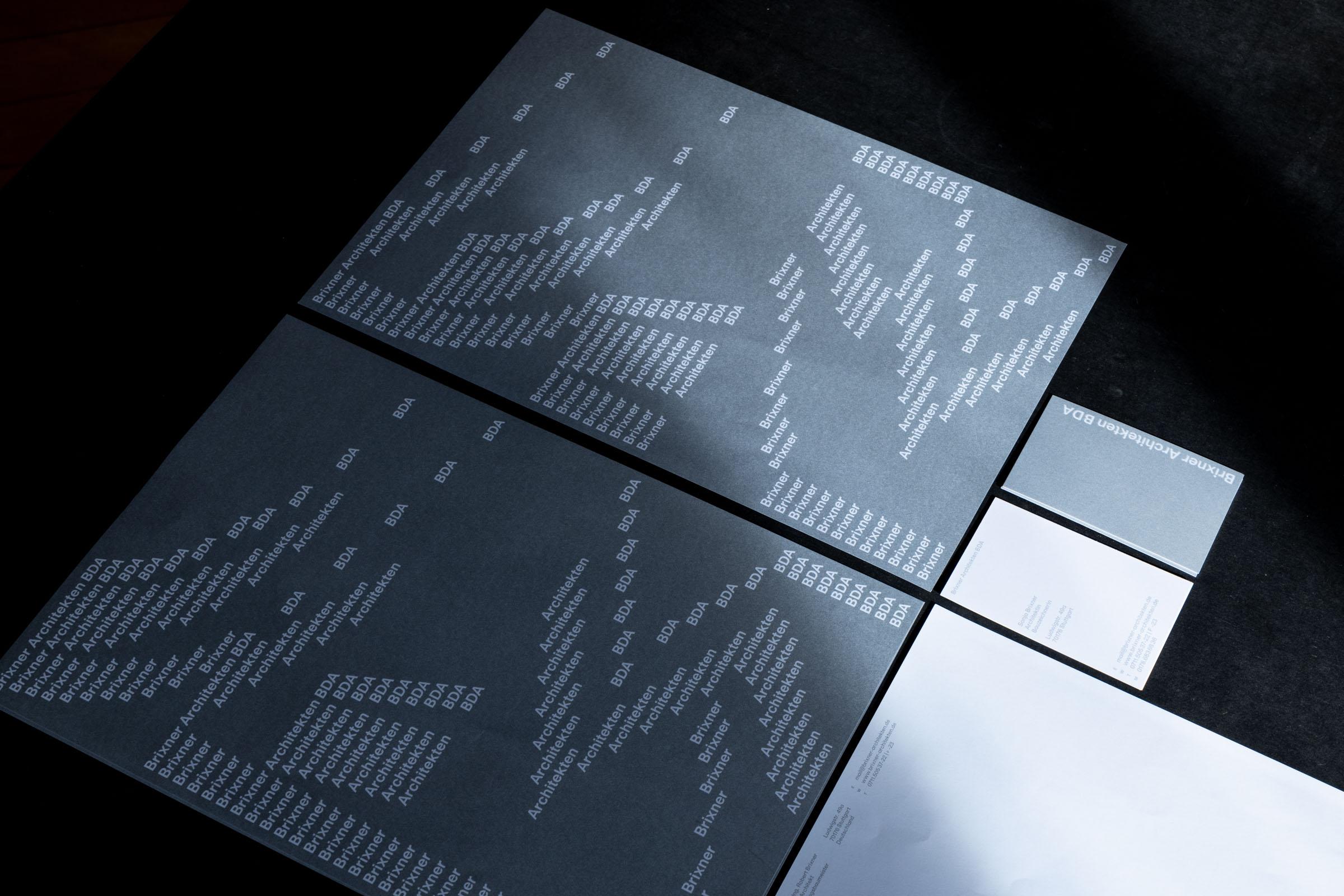 Konzeption von Briefbögen und Visitenkarten für Brixner Architekten BDA.