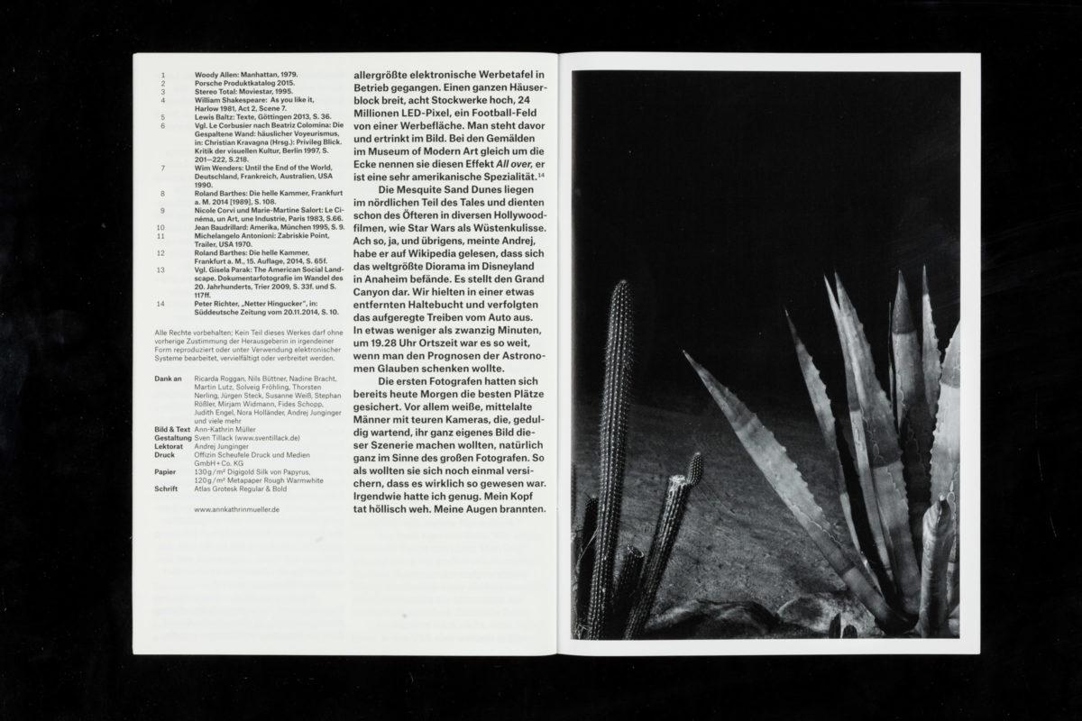 Design der Publikation »Die Exposition« der Meisterschülerin Ann-Kathrin Müller.