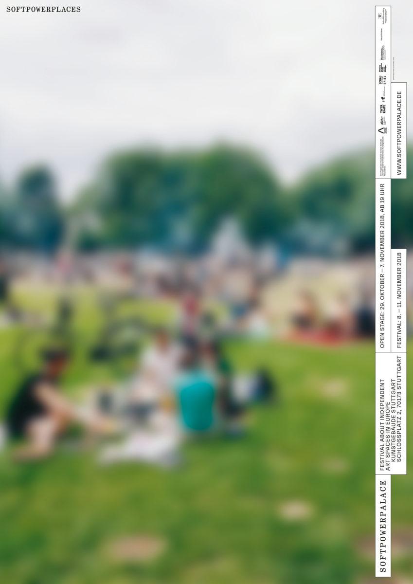 Eines der Plakate für das Festival Soft Power Palace.