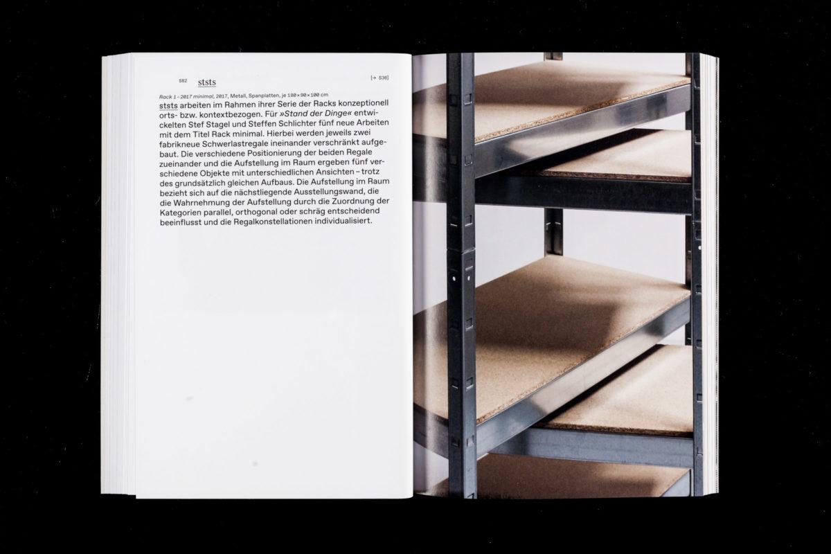 Projektbeitrag von ststs innerhalb des Gruppenkataloges »Stand Der Dinge«, herausgegeben vom Künstlerbund Baden-Württemberg, erschienen bei modo.