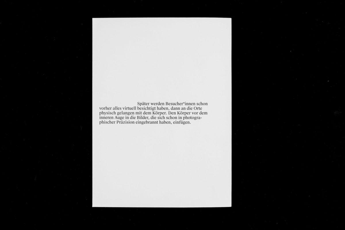 Rückseite des Umschlags von Ann-Kathrin Müllers Arbeit Szenarien Unter Freiem Himmel.