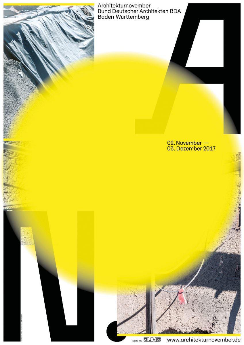 Plakat für den Architekturnovember, initiiert vom Bund Deutscher Architekten