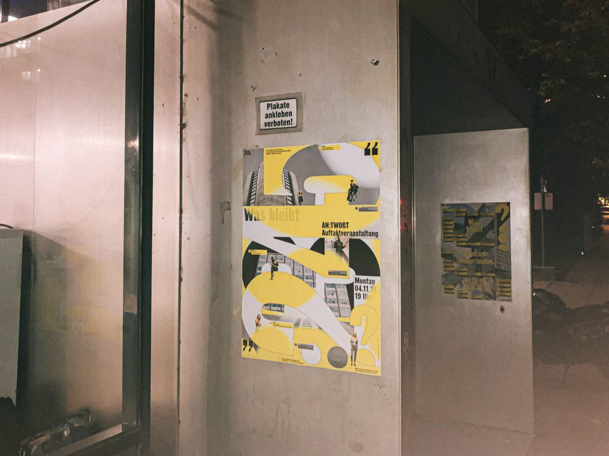 Plakate am Eröffnungsabend des Architekturnovember (initiiert vom BDA) in der Uni Stuttgart.