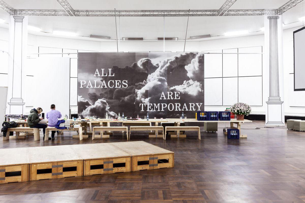 All Palaces Are Temporary, so auch der Soft Power Palace in den Räumlichkeiten des WKV, Stuttgart.