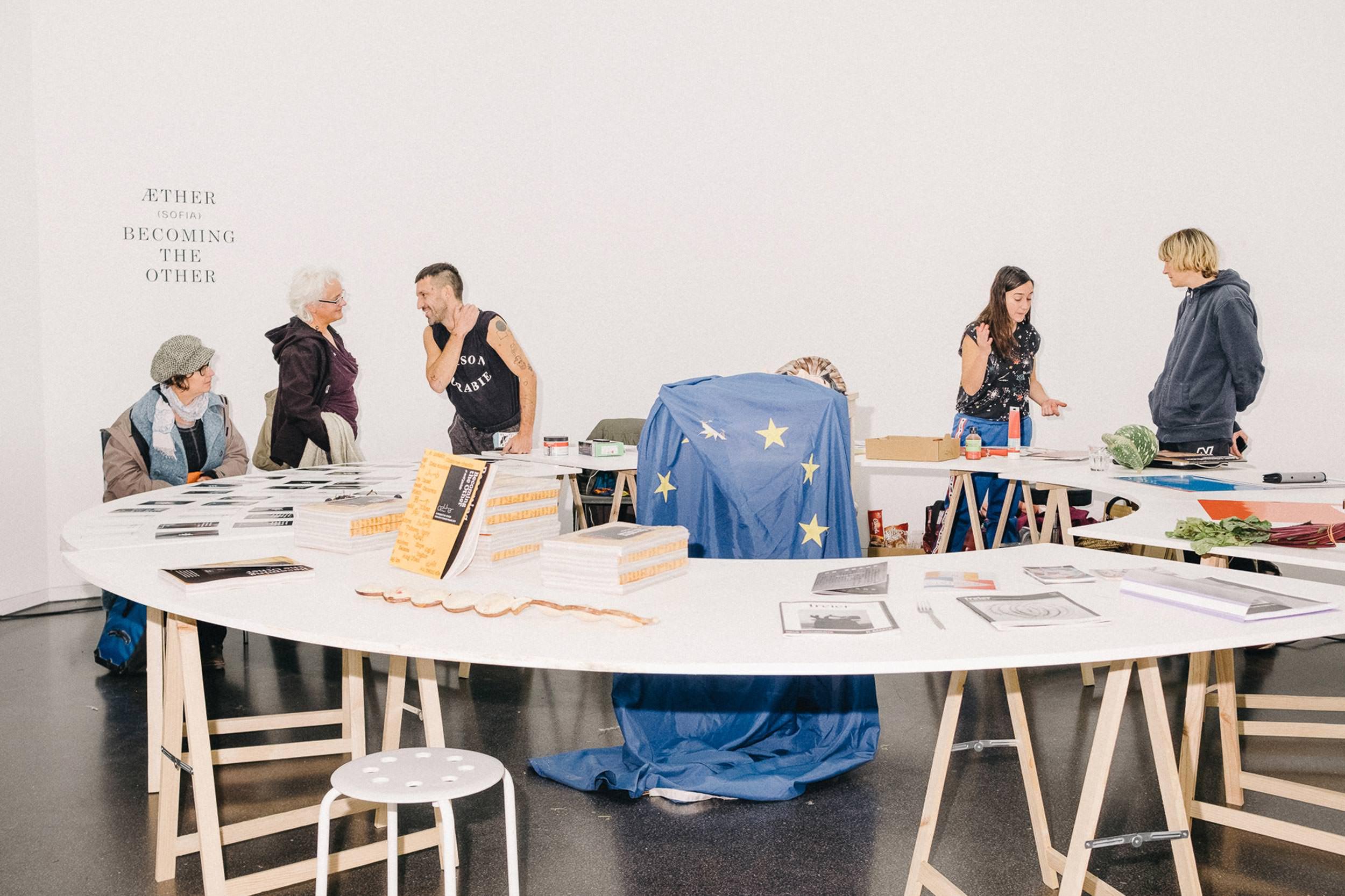 Die Ausstellung wurde auch mit der Kunst-Initiative Aether aus Sofia gestaltet.