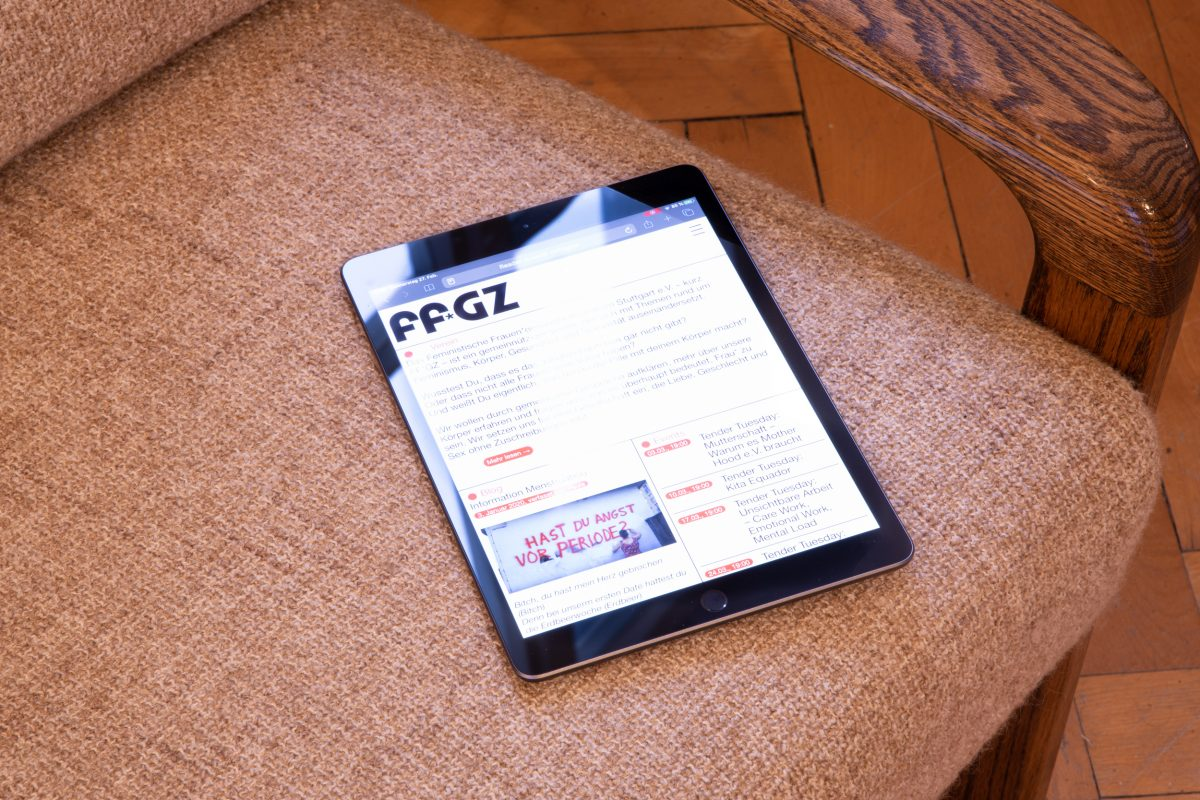 Ansicht der responsiv gestalteten Internetseite für den FF*GZ. Die Programmierung wurde auch von uns durchgeführt.