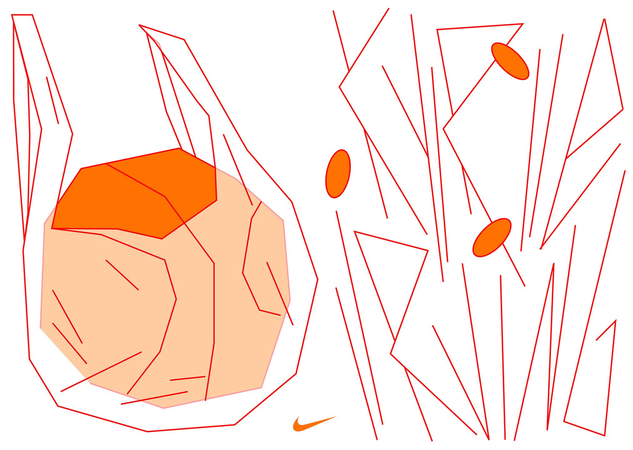 Typografische Skizzen und Illustration innerhalb des Branding Prozesses für NIKE Basketball.