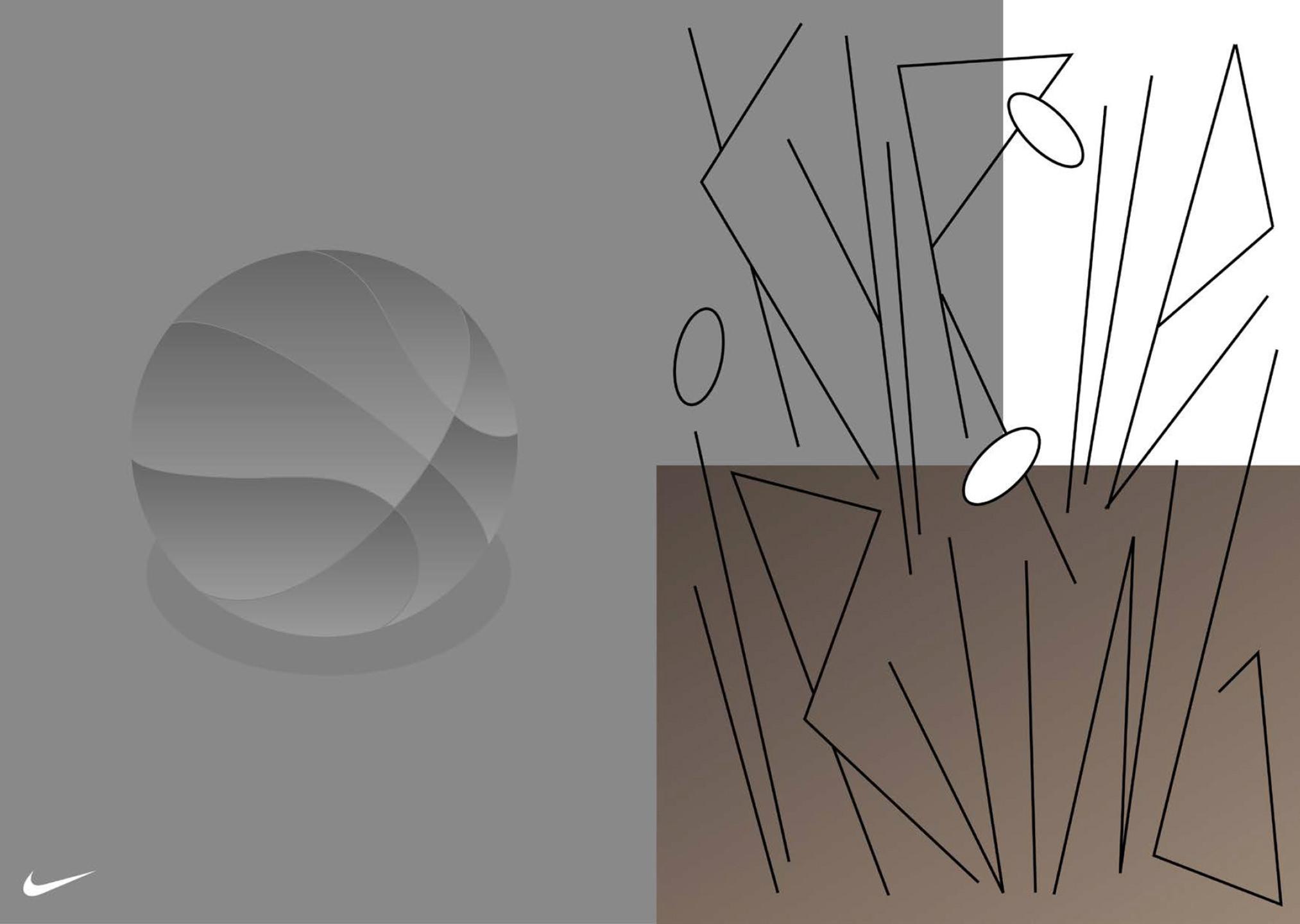 Design-Skizze innerhalb des Prozesses mit NIKE Basketball.