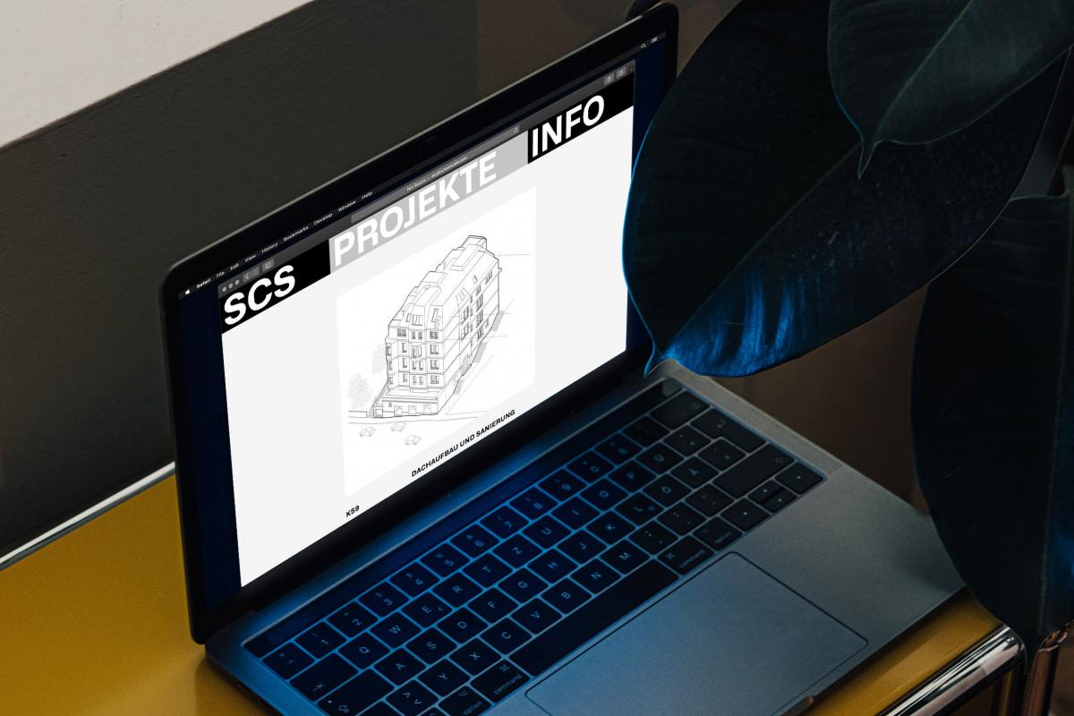 Projekteinzelansicht auf der Webseite von SCS, Studio Cross Scale, Stuttgart.