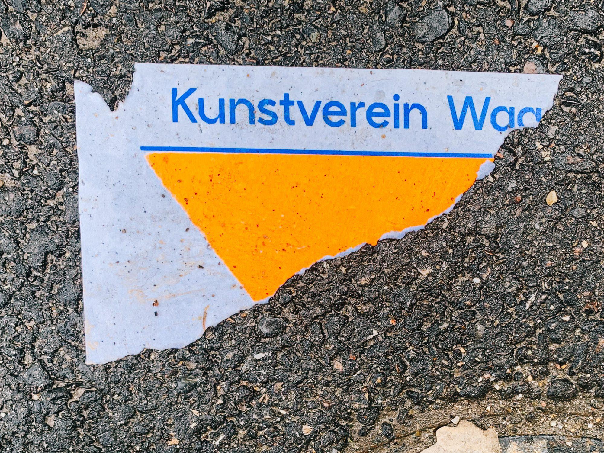 Zweifarbiger Plakat-Siebdruck für den Kunstverein Wagenhalle.